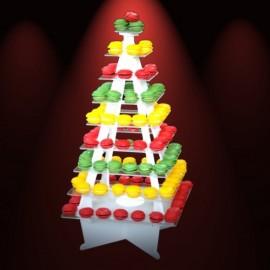 présentoir lumineux pyramide pour verrines en pvc et plexi