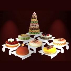 ensemble de présentoirs buffet grand modulo 5 éléments pvc