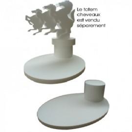 présentoir ovale en polystyrène pour totem