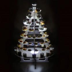 présentoir buffet lumineux cone pour miniatures