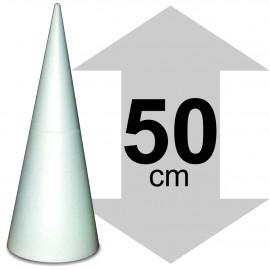 Cone en polystyrène h 50cm