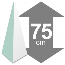 pyramide polystyrène hauteur 75cm