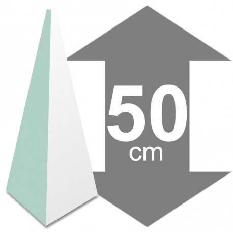 Pyramide en polystyrène hauteur 50cm base 21 x 21cm