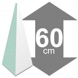 Pyramide en polystyrène hauteur 60cm base 24,5 x 24,5cm