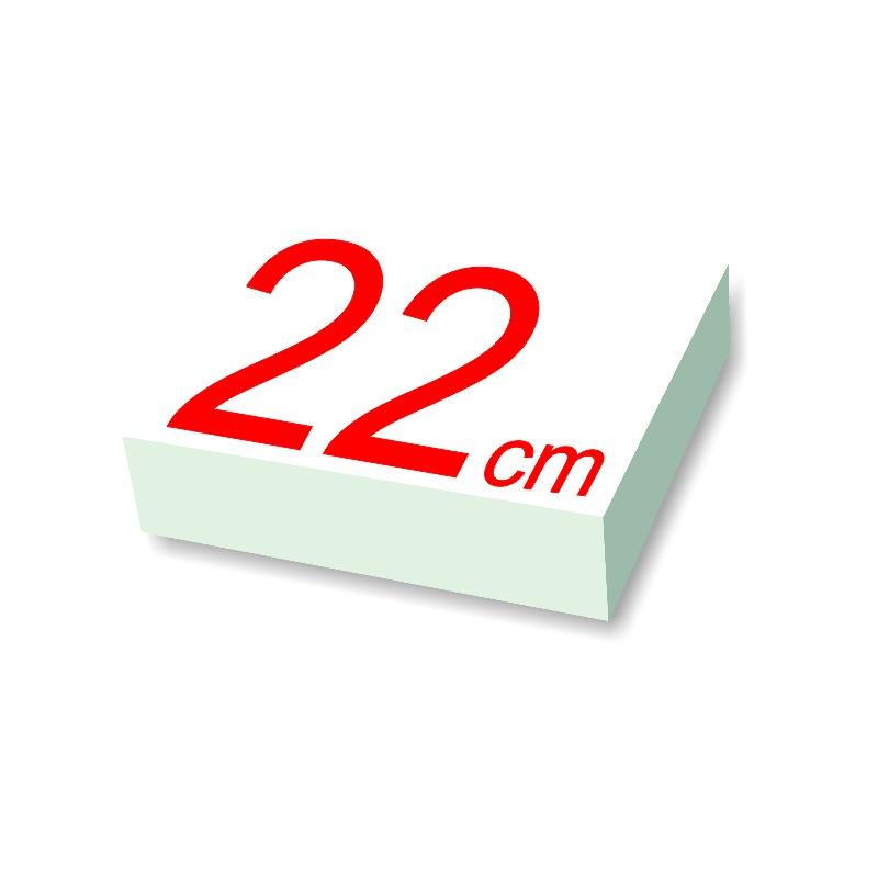 rond polystyrène diamètre 22 cm