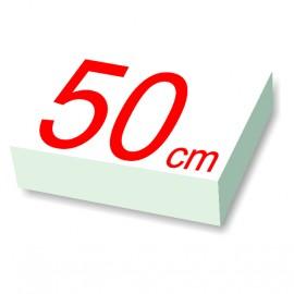 carré polystyrène 50 cm de côté
