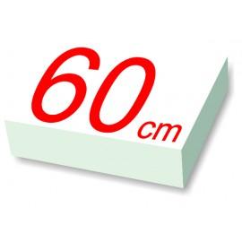 carré polystyrène 60 cm de côté