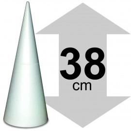 cône polystyrène hauteur 38 cm