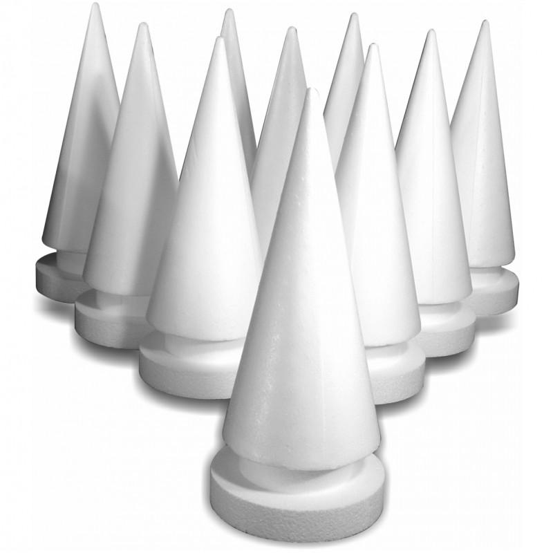Cone polystyrène sur pied a l'unite