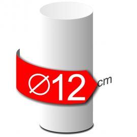 Colonne lisse en polystyrène hauteur 50cm diamètre 12cm