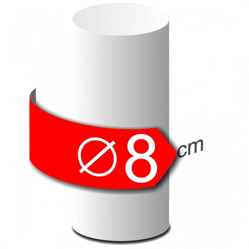 Colonne lisse en polystyrène hauteur 50cm diamètre 8cm
