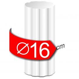 Colonne cannelee en polystyrène hauteur 50cm diamètre 16cm
