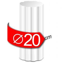 Colonne cannelees en polystyrène hauteur 50cm diamètre 20cm