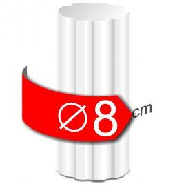 colonne crénelée polystyrène hauteur 50cm diamètre 8 cm