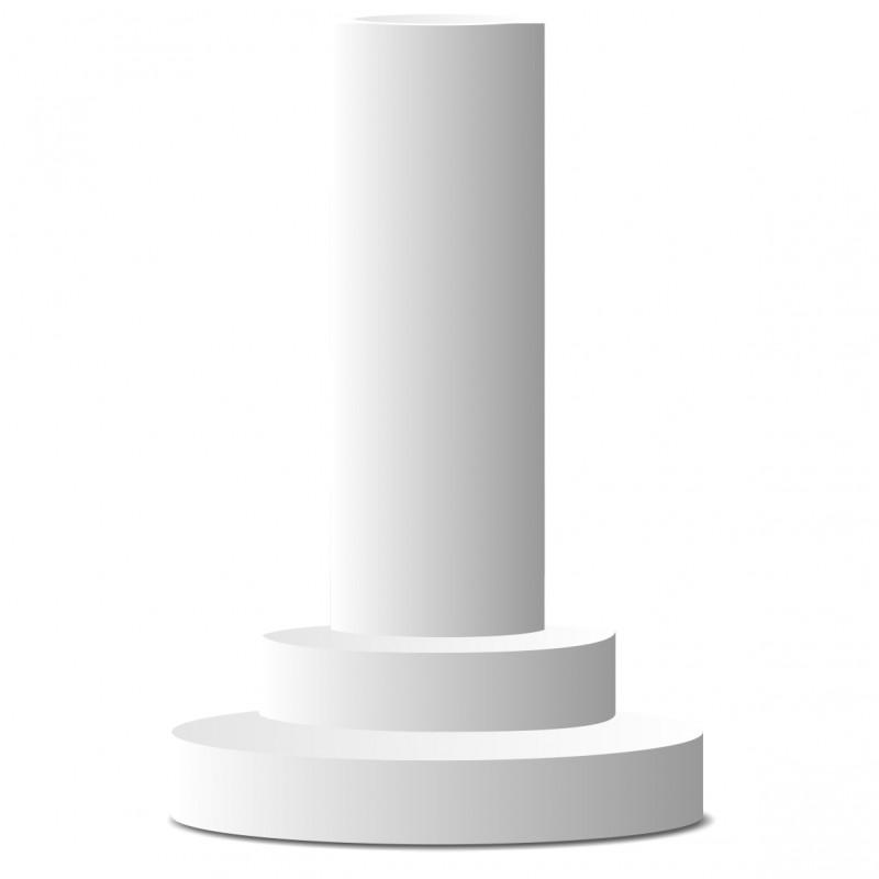 Colonne ronde en polystyrène hauteur 55cm sur socle