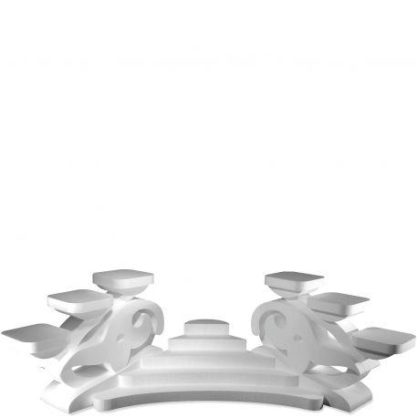 Présentoir gâteaux fleur de lys en polystyrène