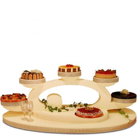 présentoir à gâteaux belle époque en polystyrène