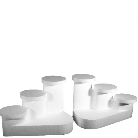 Le lot de 2 présentoirs gâteaux cascado en polystyrène