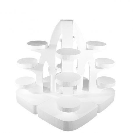 Ensemble de 4 présentoirs gateaux archi polystyrène