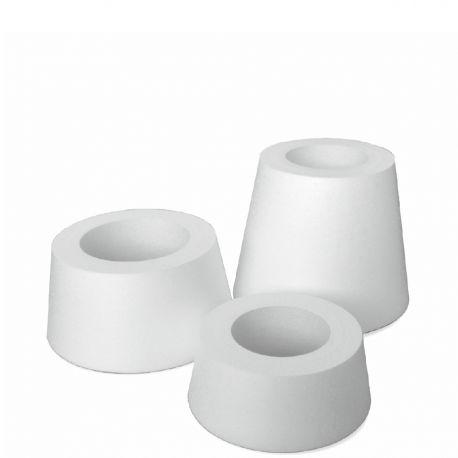 lot de 3 socles coniques polystyrène