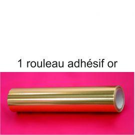 le rouleau d'adhésif or pour la couverture des socles en polystyrène