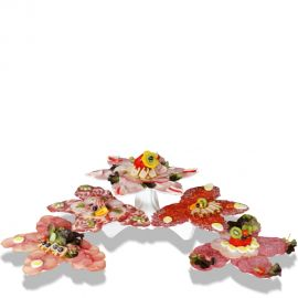 présentoir buffet 5 fleurs pour charcuterie