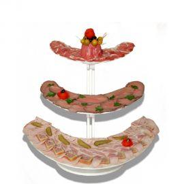 présentoir décoration buffet boomerang 3 etages