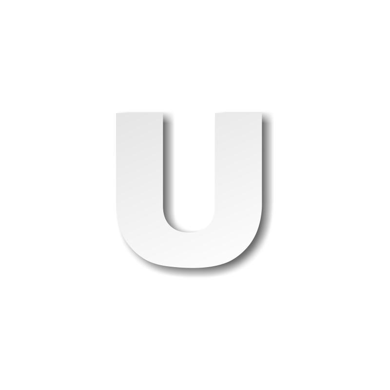 lettre u lettre U majuscule   Décoration buffet lettre u