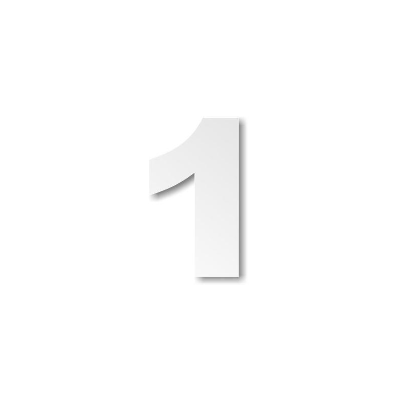 Extrêmement chiffre 1 en polystyrène ou pvc - Décoration buffet NL93
