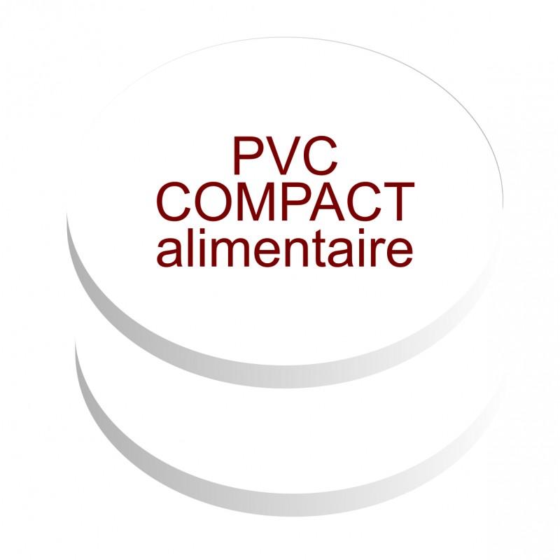 formats ronds pvc compact contact alimentaire de 5 mm d'épaisseur
