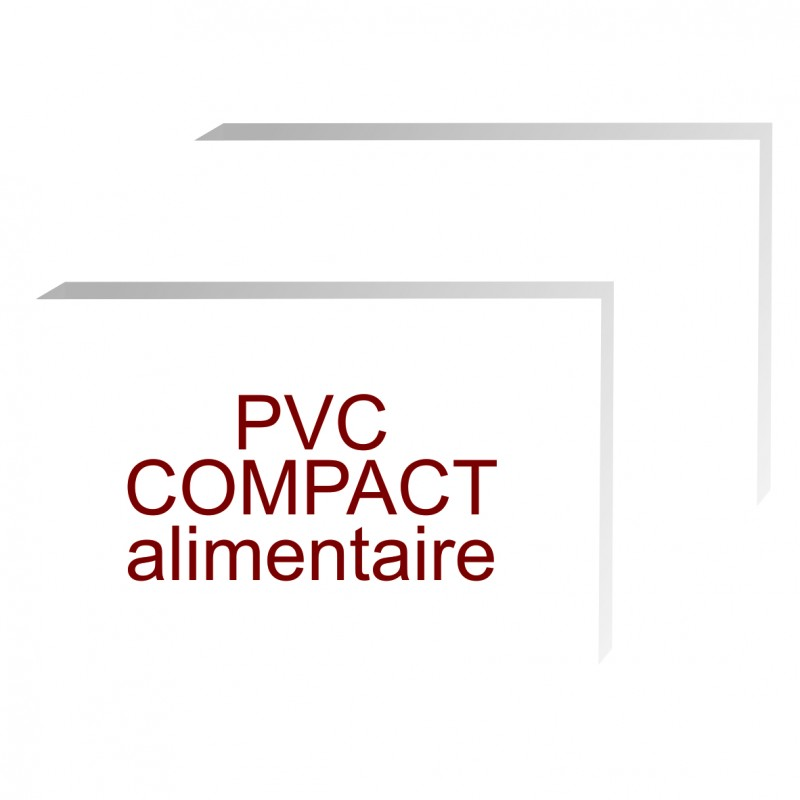 formats rectangles pvc compact contact alimentaire de 5 mm d'épaisseur