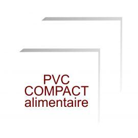 formats carrés pvc compact contact alimentaire de 5 mm d'épaisseur