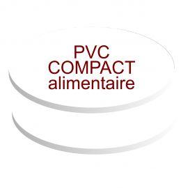 formats ovales pvc compact contact alimentaire de 5 mm d'épaisseur