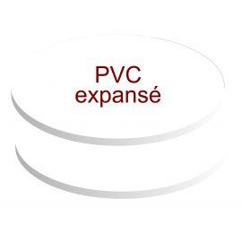 formats ovales pvc expansé de 5 mm d'épaisseur