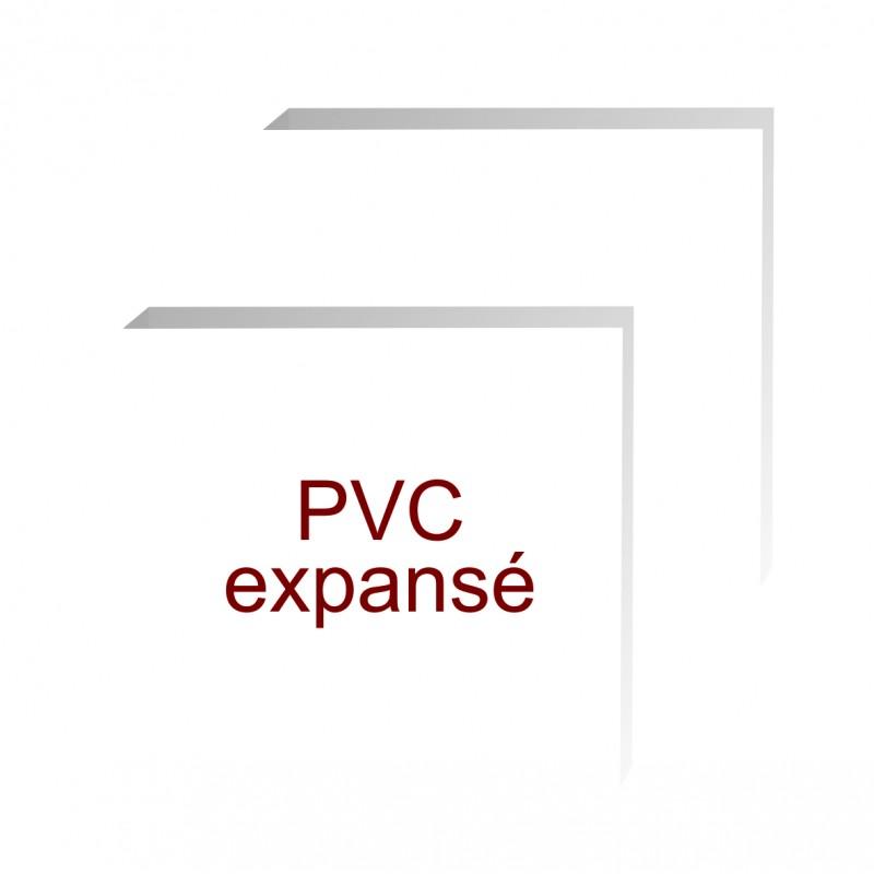 formats carrés pvc expansé de 5 mm d'épaisseur