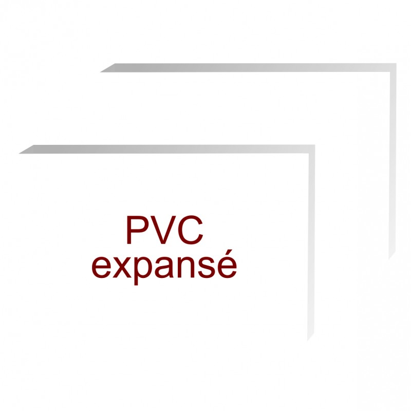 formats rectangles pvc expansé de 5 mm d'épaisseur
