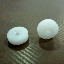 écrous moletés plastique blanc trou 4 mm lot de 20