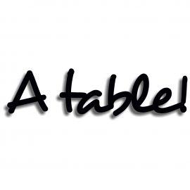Silhouette a table en pvc rigide noir longueur 75 cm