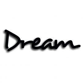 Silhouette dream en pvc rigide noir mat longueur 75 cm