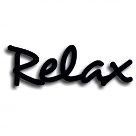 Silhouette relax en pvc rigide noir mat longueur 75 cm