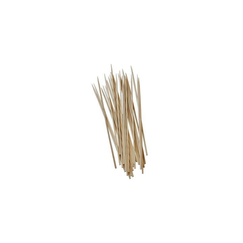 Brochettes bois 1 pointe 15 cm