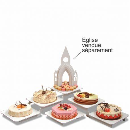 présentoir gâteaux modulo carré en pvc