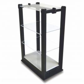étagère lumineuse en pvc noir et plexi