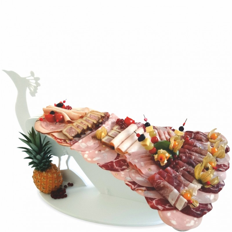 présentoir buffet paon en pvc