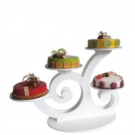 Présentoir à gâteaux volubilis en pvc garni
