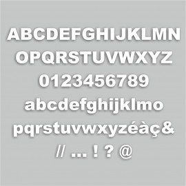 lettre D majuscule
