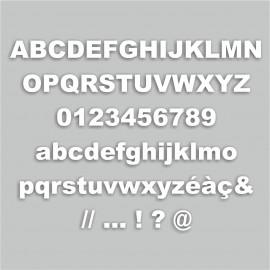 lettre M majuscule