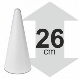 Cône polystyrène hauteur 26 cm