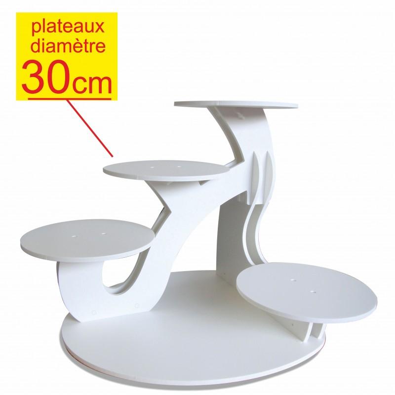 pr sentoir g teaux excellence 5 g teaux diam tre 30cm d coration buffet. Black Bedroom Furniture Sets. Home Design Ideas