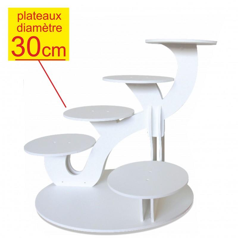 pr sentoir g teaux excellence 6 g teaux diam tre 30 cm d coration buffet. Black Bedroom Furniture Sets. Home Design Ideas